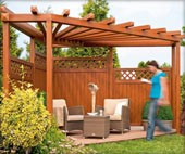 pergola als sichtschutz infos von hornbach. Black Bedroom Furniture Sets. Home Design Ideas