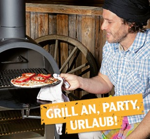Grill an, Party, Urlaub!