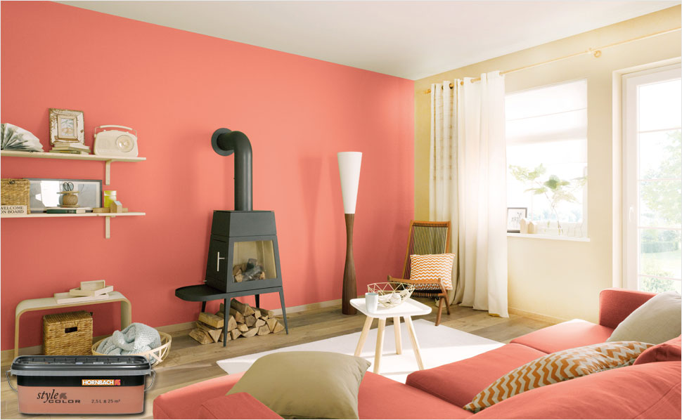 Style Color Wandfarbe Coral