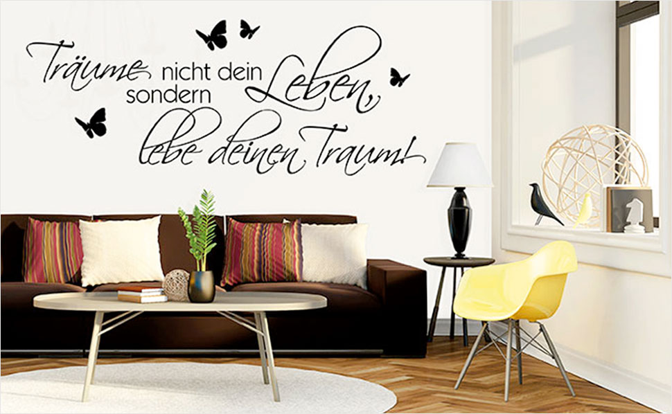 r ume mit wandtattoos gestalten mit hornbach. Black Bedroom Furniture Sets. Home Design Ideas