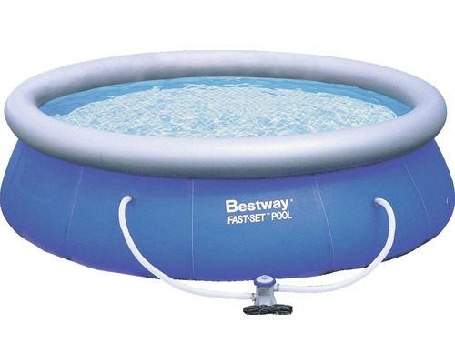 Bestway fast set pool rundbecken 366 cm h he 91 cm for Hornbach pool set