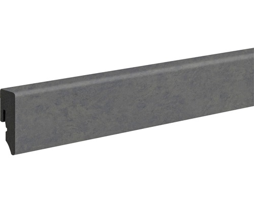 Sockelleiste PVC KU048L Raw Steel 15x38,5x2400 mm
