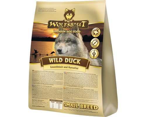 hundefutter trocken wolfsblut wild duck small breed 2kg jetzt kaufen bei hornbach sterreich. Black Bedroom Furniture Sets. Home Design Ideas
