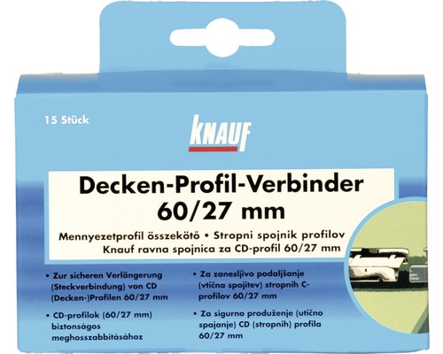 profilverbinder knauf f r cd profil 60x27 mm jetzt kaufen bei hornbach sterreich. Black Bedroom Furniture Sets. Home Design Ideas