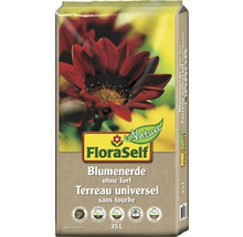 Blumenerde ohne Torf FloraSelf Nature, 35 L