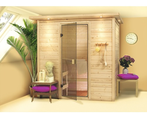 plug play sauna calienta zirkon iii inkl 3 6 kw ofen und dachkranz mit. Black Bedroom Furniture Sets. Home Design Ideas