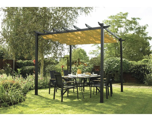 gartenpavillon latina canopy 273 x 273 cm anthrazit jetzt. Black Bedroom Furniture Sets. Home Design Ideas