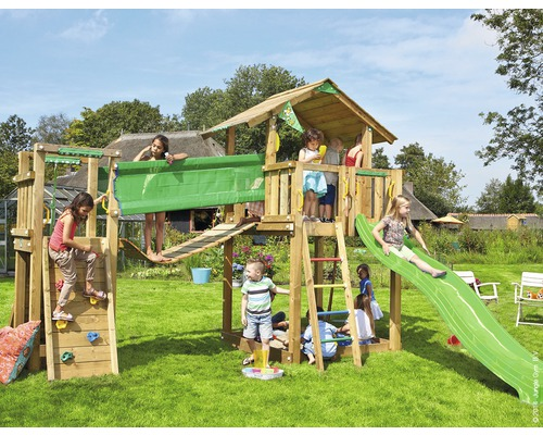 spielturm jungle gym chalet bridge modul inkl rutsche gr n jetzt kaufen bei hornbach sterreich. Black Bedroom Furniture Sets. Home Design Ideas