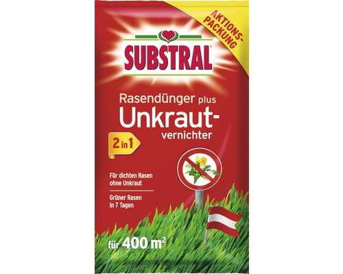 Rasendünger Plus Unkrautvernichter 2 In 1 Substral 14 Kg 400 M²