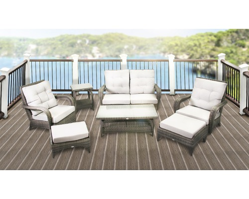 gartenm bel set lanzarote polyrattan 7teilig anthrazit jetzt kaufen bei hornbach sterreich. Black Bedroom Furniture Sets. Home Design Ideas