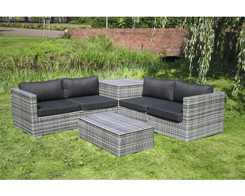 gartenm bel set madrid polyrattan 6teilig braun jetzt. Black Bedroom Furniture Sets. Home Design Ideas