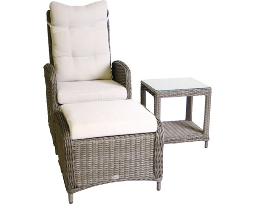 gartensessel set destiny merano polyrattan grau mit auflage natur jetzt kaufen bei hornbach. Black Bedroom Furniture Sets. Home Design Ideas