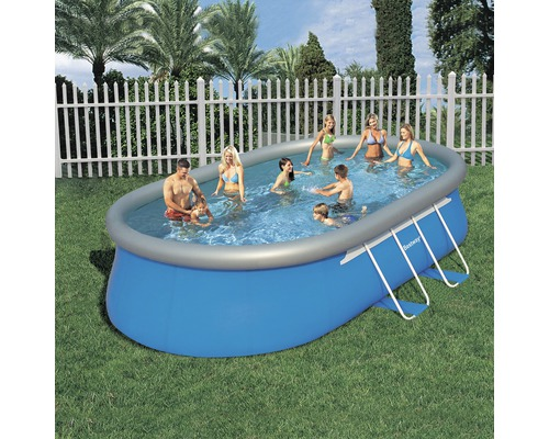 Fast set pool ovalbecken 610 x 366 cm h he 122 cm jetzt for Hornbach pool set