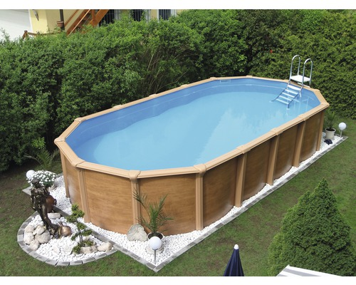 Steely supreme wood 6 1x3 6x1 3m set jetzt kaufen bei for Hornbach pool set