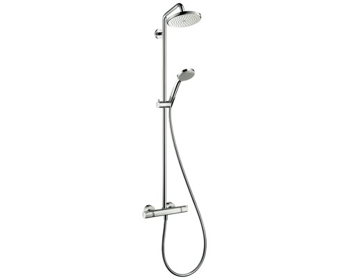 Duschsystem hansgrohe Croma 220 Air 1jet Showerpipe mit Thermostat chrom