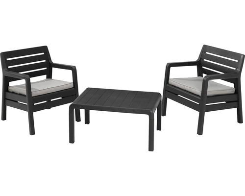 gartenm bel set balkon set delano anthrazit jetzt kaufen bei hornbach sterreich. Black Bedroom Furniture Sets. Home Design Ideas