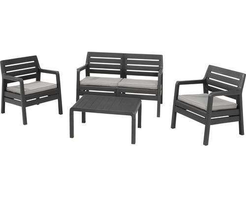 gartenm bel set lounge delano anthrazit jetzt kaufen bei hornbach sterreich. Black Bedroom Furniture Sets. Home Design Ideas