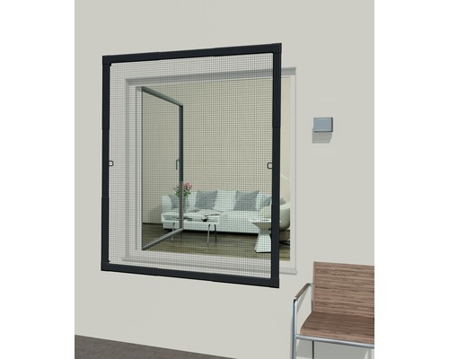 insektenschutz fenster flexi fit anthrazit 110x130 cm. Black Bedroom Furniture Sets. Home Design Ideas
