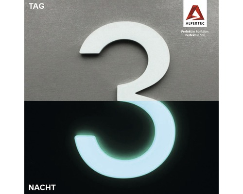 Hausnummer 3 Nightlux glow in the Dark selbstleuchtend